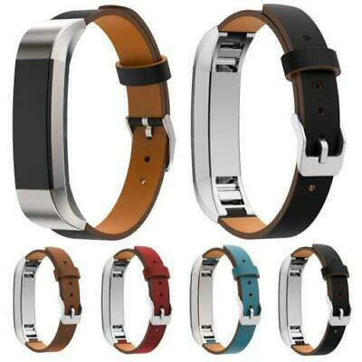 AU15.80 • Buy Genuine Leather Replacement Wrist Watch Band Strap For Fitbit Alta & HR Watch