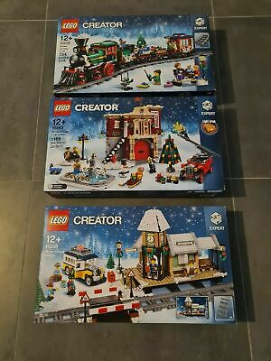 New Lego 10259 Winter Village Station + 10254 Holiday Train + 10263 Fire Station • 449.99£
