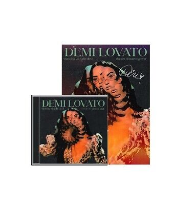 £35 • Buy Demi Lovato Signed Poster -Dancing With The Devil Black Poster & Exclusive UK CD
