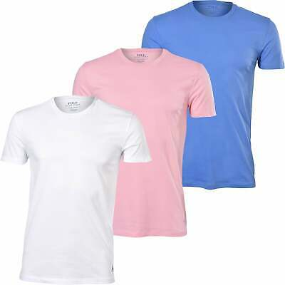 £46.99 • Buy Polo Ralph Lauren 3-Pack Polo Player Crew-Neck Men's T-Shirts, Blue/White/Pink