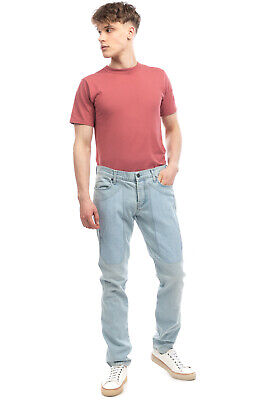 $ CDN1.71 • Buy RRP €125 JECKERSON Jeans Size 33 Stretch Distressed Faded Effect Made In Italy
