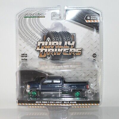 AU18.10 • Buy CHASE Greenlight Dually Drivers Series 6 2019 Ford F350 Blue Jeans Green Machine
