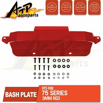 AU144 • Buy Bash Plate Front Sump Guard Fits Toyota Landcruise 75 Series 3mm Red Heavy Duty