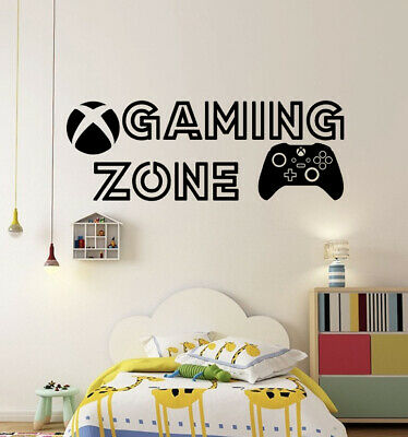 £5.95 • Buy Gaming Zone Wall Stickers Xbox Controller Gamers Vinyl Decals KidsRoom GZ-6-Xbox