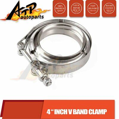 AU35 • Buy 4 Inch V-Band Vband Clamp +2 Mild Flanges Turbo Exhaust Intercooler Downpipe