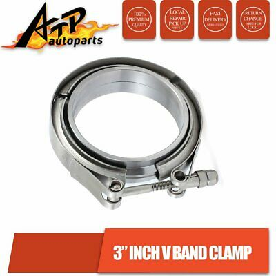 AU26.50 • Buy 3 Inch V Band Vband Clamp W 2 Mild Flanges Turbo Exhaust Intercooler Downpipe