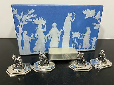 $ CDN12.49 • Buy Vintage WEDGWOOD Kitty Cat Silver Tone Place Card Holders