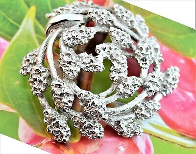 $ CDN22.50 • Buy Vintage Signed Monet Silvertone Mulberry Branched Fruit Brooch