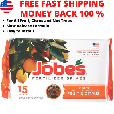 £12.96 • Buy Jobes Fertilizer Spikes Fruit And Citrus Tree For Apple Peach Cherry Nut Trees