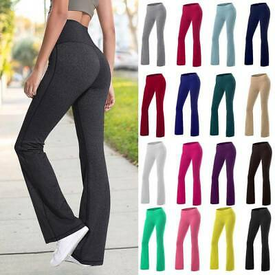 AU24.99 • Buy Womens Bootcut Yoga Pants Bootleg Flared Trousers Casual Sports Stretch Leggings