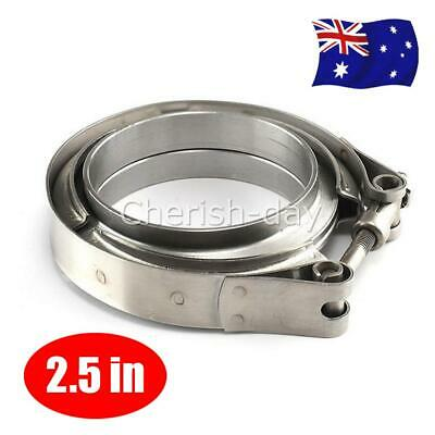 AU27.90 • Buy 2.5  Inch 64mm V-Band Vband Clamp Stainless Steel Flange Exhaust Pipe Tailpipe Z