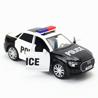 $ CDN23.39 • Buy 1:36 Audi Q8 2019 SUV Police Model Car Diecast Toy Collection Pull Back Kid Gift