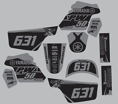 $ CDN55.63 • Buy Graphics For 1996-2020 Yamaha PW50 PW 50 Decal Stickers Gray Grey