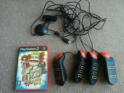 £8 • Buy Buzz The Music Quiz (Sony PlayStation 2, 2005) Complete With Buzzers PS2 Tested
