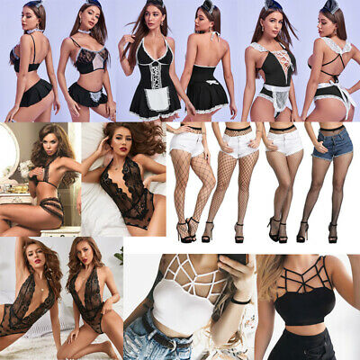 $5.99 • Buy Ladies Sexy Lingerie Female Hollow Out Lace Bodysuit Bikini Suit Maid Cosplay