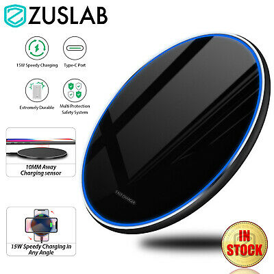 AU15.95 • Buy 15W Qi Wireless Charging Charger ZUSLAB For IPhone 12 Pro Max Mini 11 XR Samsung