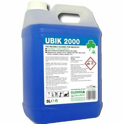 £13.95 • Buy Clover Ubik 2000 Powerful Multi Purpose Degreaser 5L Reliable Industrial Cleaner