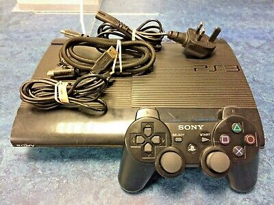 £50 • Buy Sony PS3 Super Slim 500GB Black Console CECH-4003C *FAULTY BLU RAY/GAME READER*