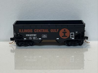 $17 • Buy 055 00 140 Micro-Trains Line Nscale 33' Twin Bay Hopper Offset Sides IL Cen Gulf