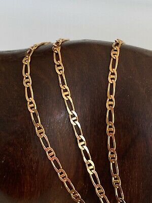 AU225 • Buy  9ct 375 Solid Yellow Gold Fancy Anchor Link Neck Chain  Necklace  50 Cms