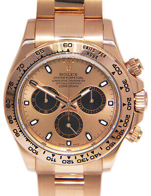 $ CDN57942.12 • Buy Rolex Daytona Chronograph 18k Rose Gold Watch Rose Dial Box/Papers 116505