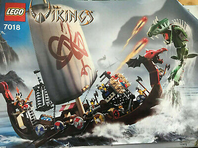 £159.35 • Buy Lego 7018 Viking Ship Challenges The Midgard Serpent - Loose