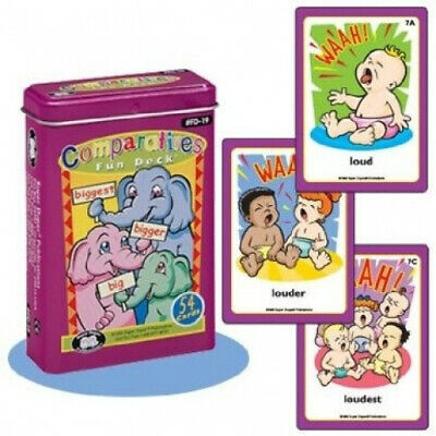 AU51.55 • Buy Comparatives Fun Deck Cards - Super Duper Educational Learning Toy For Kids