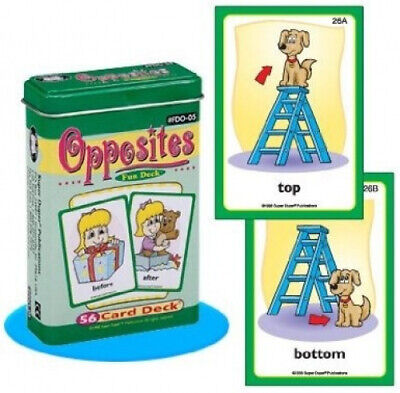 AU52.53 • Buy Opposites Fun Deck Cards - Super Duper Educational Learning Toy For Kids