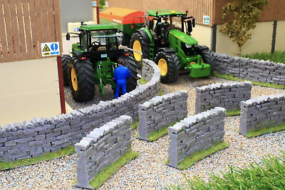 £14.99 • Buy Brushwood Toys 1:32 Scale Authentic Curved Stone Wall Sections Bt3020