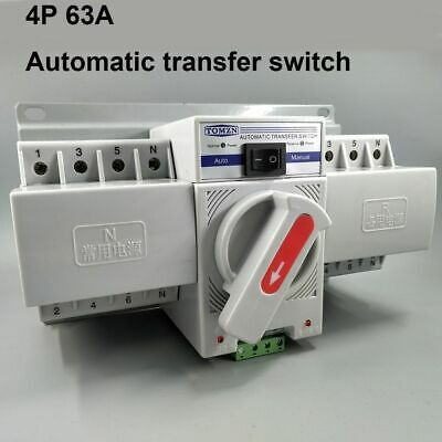 £46.62 • Buy Automatic Transfer Switch 380V Terminal MCB Type Dual Power Electric Equipment