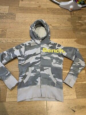 £9.99 • Buy Bench Camoflague Army Combat 12 Hoodie With Thumbholes Rare Good Condition