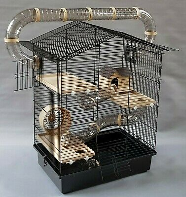 £58.99 • Buy Hamster Cage Mouse Gerbil Rodents Pet Animal Bottle House Wheel Many Tubes Hutch