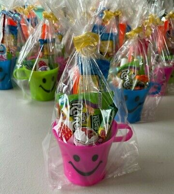 £1.30 • Buy Pre Filled Unisex Smiley Cup Party Loot Favour In Party Cello Bag With Ribbon