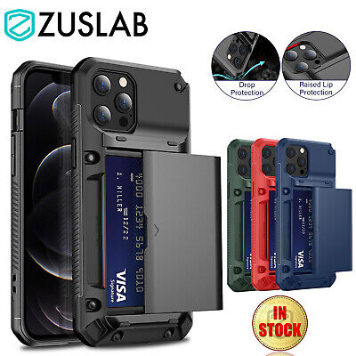 AU14.95 • Buy For IPhone 13 12 11 Pro XS Max XR X 6 7 8 Plus Case Card Wallet Heavy Duty Cover