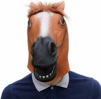 £9.99 • Buy Horse Head Mask Latex Animal Costume Prop For Halloween Costume Party Novelty