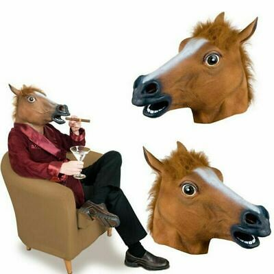 £9.85 • Buy  Horse Head Rubber Mask Panto Fancy Dress Party Adult Costume