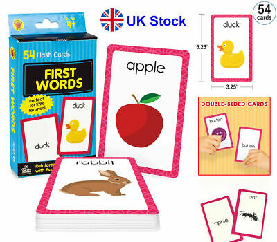 £3.76 • Buy Baby Book First Words Picture Flash Cards Kids Educational Pre School Learning