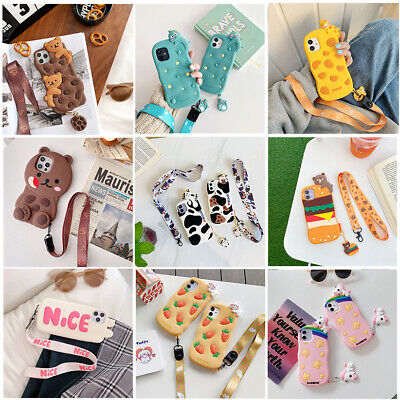 AU8.99 • Buy Hot Cute 3D Cartoon Lovely Animal Lanyard Soft Phone Case Cover For Apple IPhone