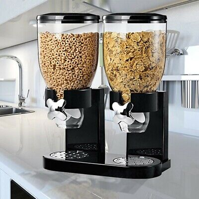 £17.98 • Buy New Double Cereal Dispenser Dry Food Storage Container Dispenser Machine