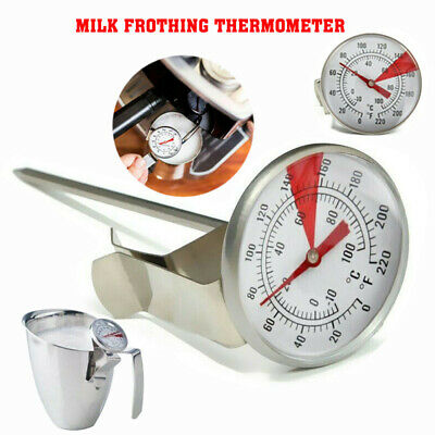 $4.99 • Buy Stainless Steel Coffee Milk Frothing Candy Liqued Probe Thermometer Clip Kitchen