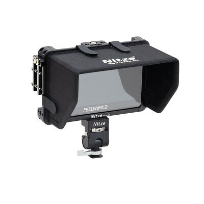 AU121.15 • Buy Monitor Cage Kit Sunhood/Mount Holder/Clamp For Feelworld F6 Plus F5 PRO 5.5