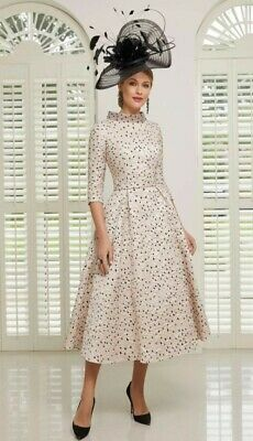 £360 • Buy Mother Of The Bride Or Groom Veni Infantino Dress By Ronald Joyce Ivory & Navy