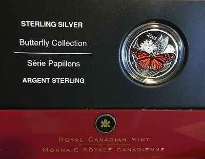 $56.07 • Buy 2005 50c Canadian Mint Butterfly Collection Monarch Silver Coloured Coin