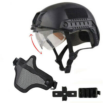 $34.19 • Buy Military Tactical Airsoft Paintball SWAT Protective FAST Helmet W/ Goggle Mask