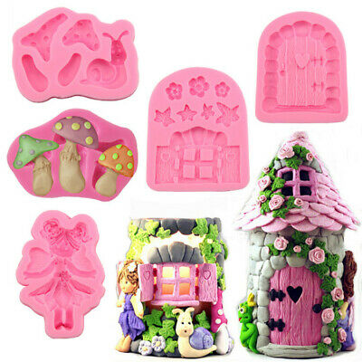 Fairy Silicone Mould Cake Fondant Chocolate Icing Baking Decoration Topper Candy • 3.25£