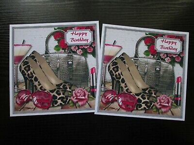 £1.50 • Buy NEW === 2 X LADIES DESIGNER SHOES & HANDBAG -- Card Toppers (NEW SIZE)