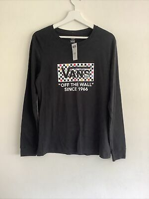 £17.99 • Buy Vans Off The Wall Womens Party Checker Black Tee Shirt Size L