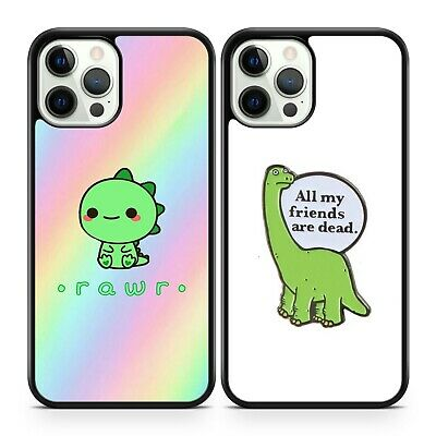 £7.99 • Buy Adorable Cute Baby Dinosaurs Rawr All My Friends Are Dead Quote Phone Case Cover