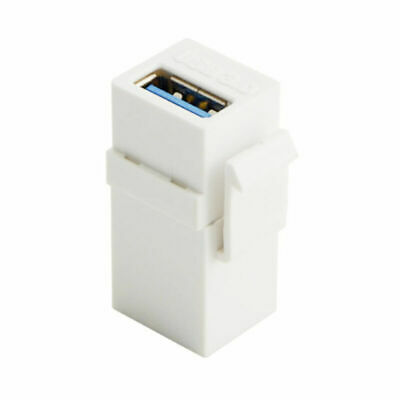 AU4.65 • Buy White USB 3.0 A Female To A Female Extension Keystone Jack Coupler Adapter