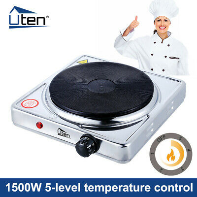 £16.49 • Buy Single Hot Plate Portable Table Top 1500W Electric Cooker Stove Kitchen Utensils